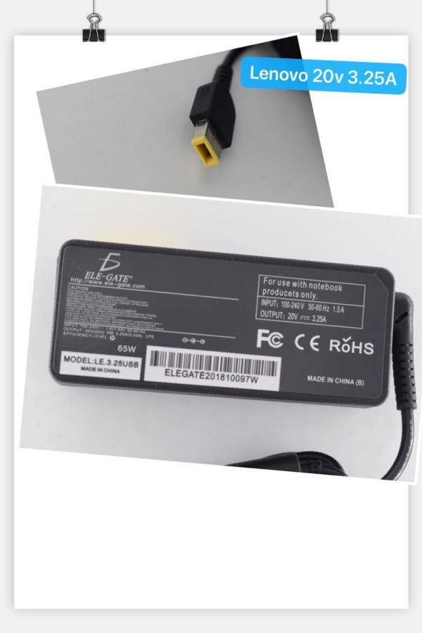 Cargador Laptop lenovo Punta USB 20v 3.25A 65W