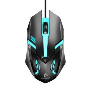 Mouse alámbrico Usb Gaming Respiración Luz Ratón