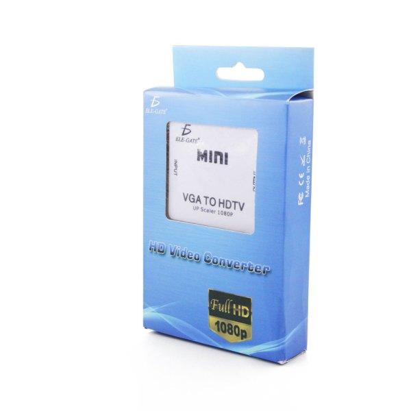 Mini Convertidor VGA a HDMI 1080P Con Audio