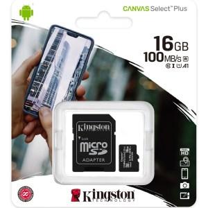 Trajeta de Memoria Kingston Micro SD 16GB Class 10
