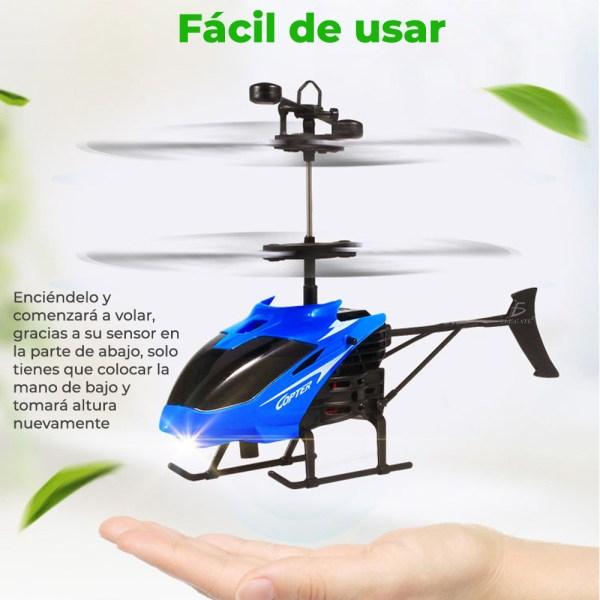 Juguete Dron Helicóptero Control Sensor Recargable