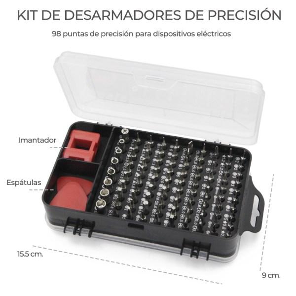 Desarmador Kit Reparacion Celulares Tablets Laptops 100 En 1