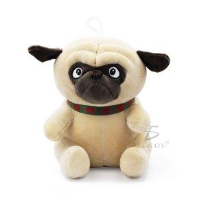 Juguetes Peluche Con Forma Perro Pug Para Dormir 33cm