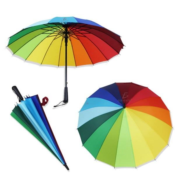 Paraguas Grande Impermeable Resistente Al Viento Sólido 16