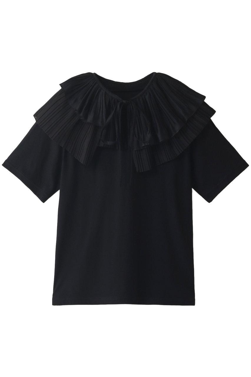 MAISON SPECIAL メゾンスペシャル ランダムプリーツカラーTシャツ BLK(ブラック)
