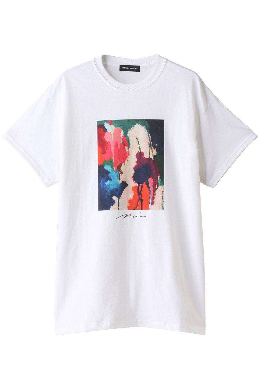 MAISON SPECIAL メゾンスペシャル 10-20ドローイングTシャツ WHT(ホワイト)