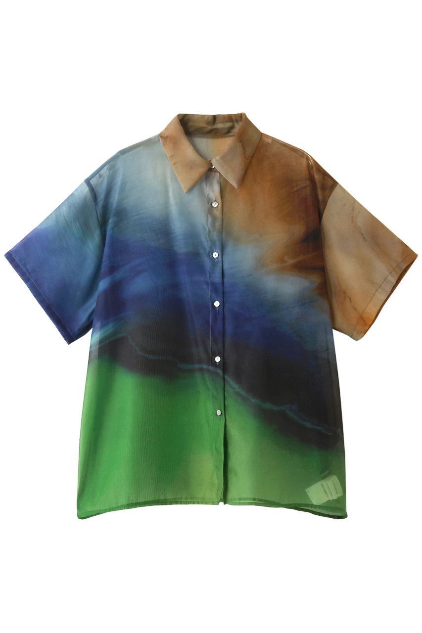 SALE 【30%OFF】 MAISON SPECIAL メゾンスペシャル 【ideas and PAINTING】コラボプリントシャツ BLU(ブルー)