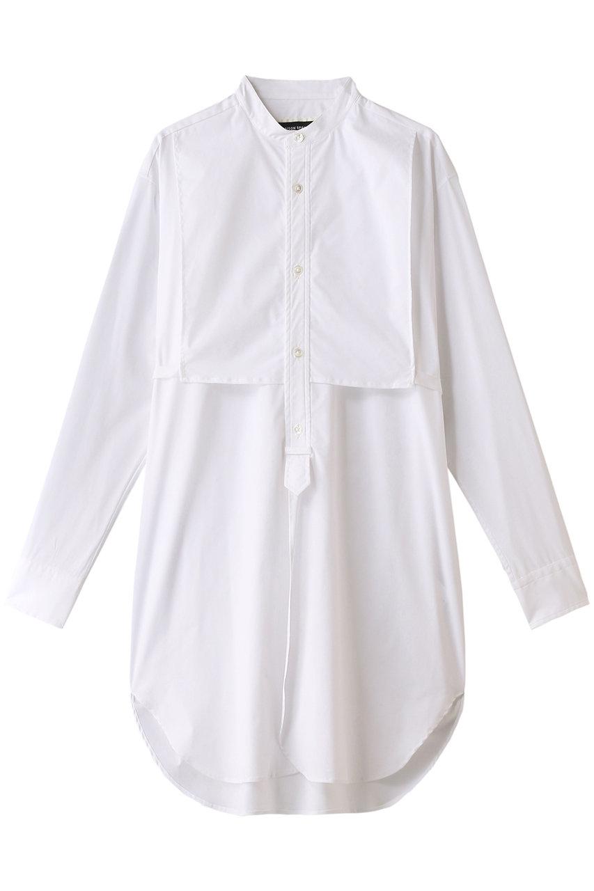 MAISON SPECIAL メゾンスペシャル コットンスタンドカラーロングシャツ WHT(ホワイト)