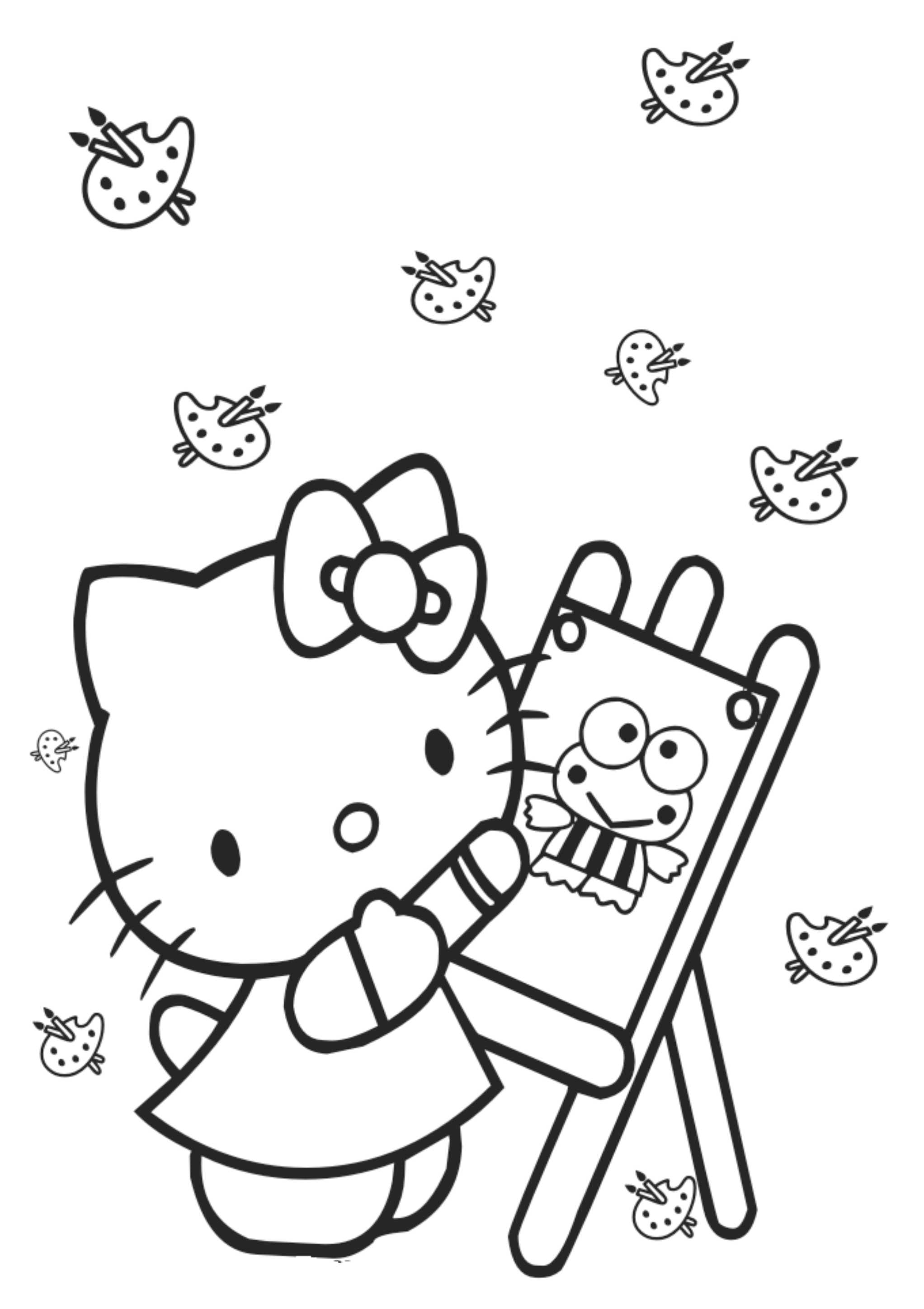 Revista Para Colorir Hello Kitty