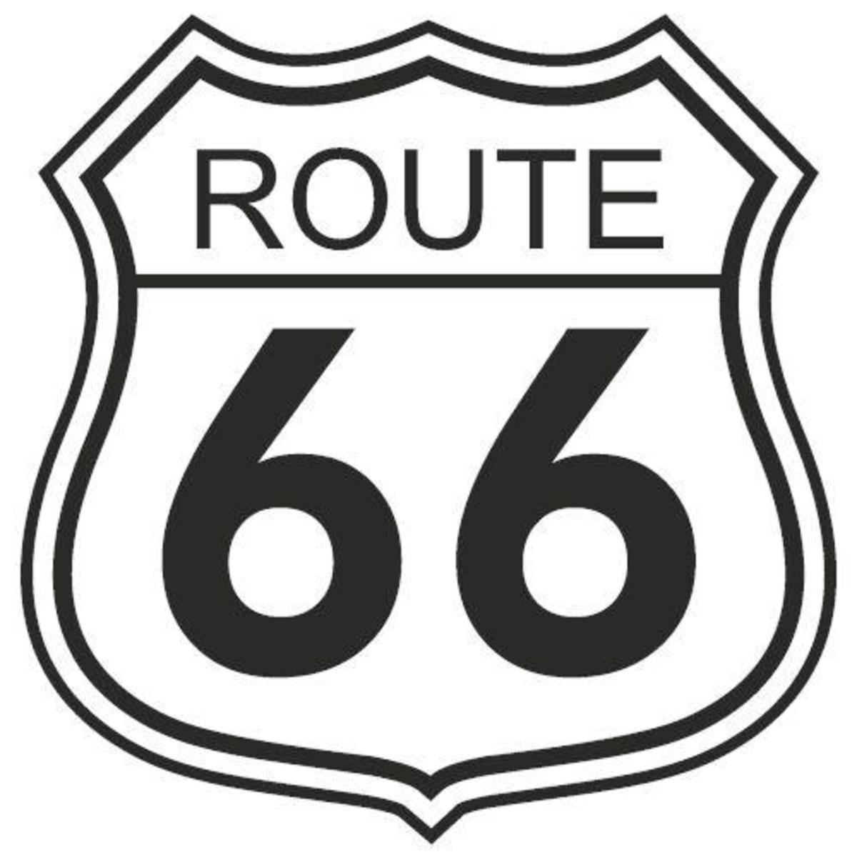 Adesivo De Parede Route 66 No Elo7