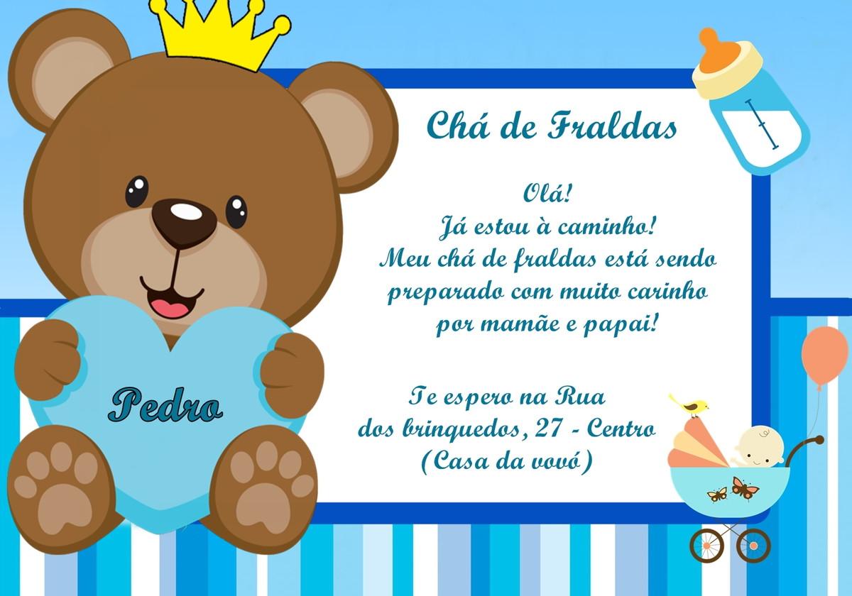Convite Cha De Fralda Principe