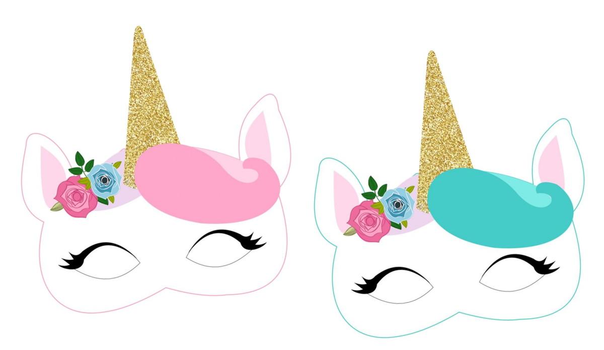 Confira desenhos, imagens e figuras para colorir de carnaval. Máscara Unicórnio no Elo7   HB Lembrancinhas