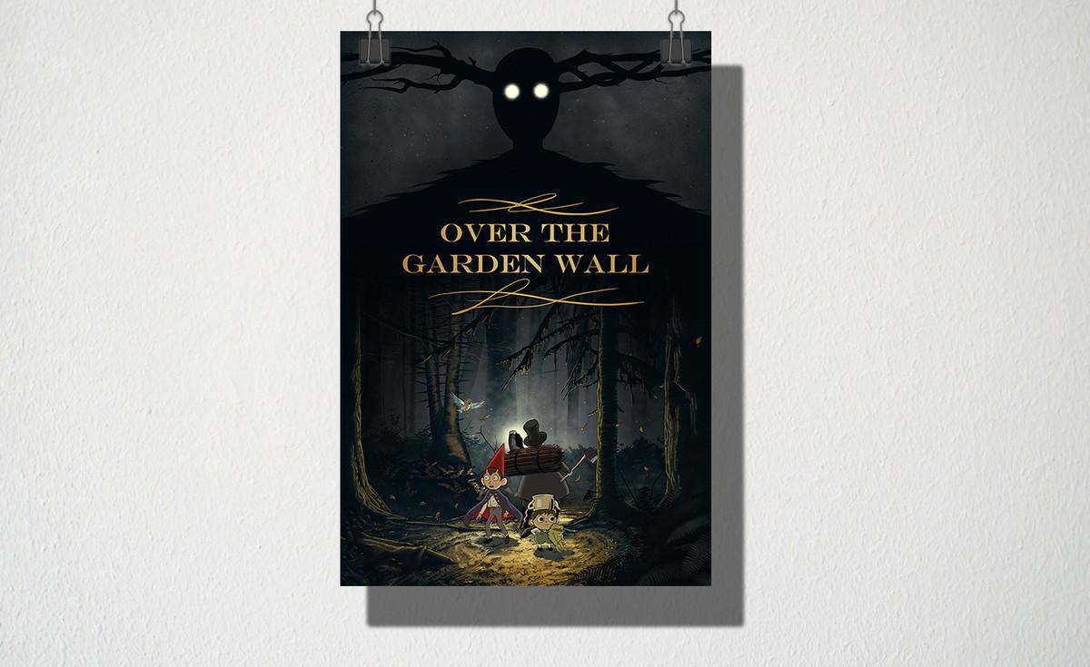 poster a4 over the garden wall