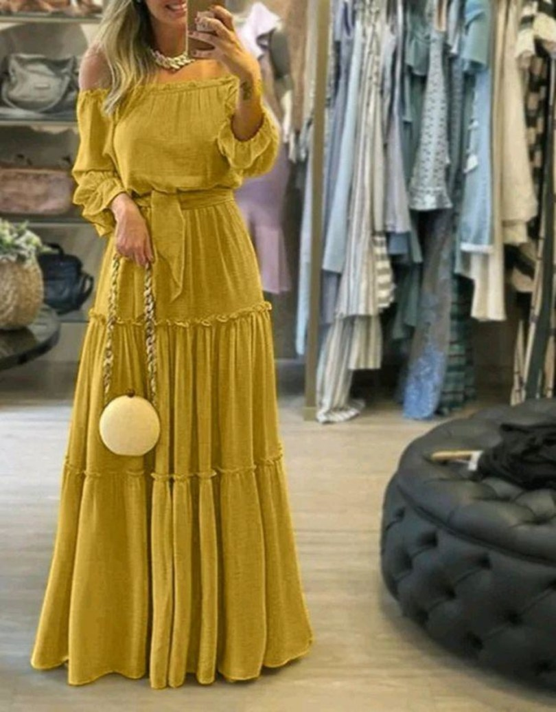 vestido longo manga longa ciganinha babados festa no Elo7 | Belíssima Moda  Criativa Bordados e Rendas - Ateliêr Artesanal (14C8E76)