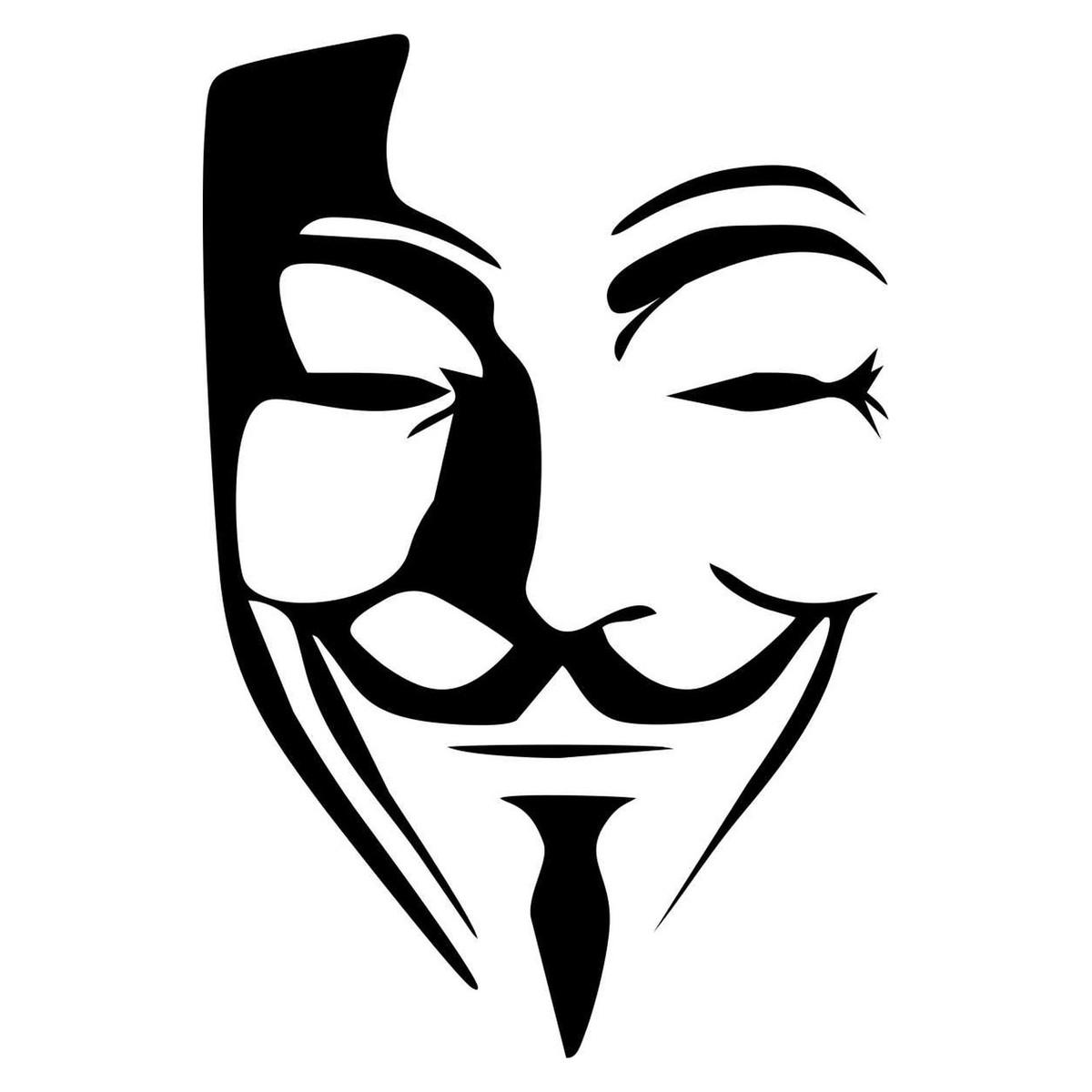 Adesivo Anonymous V For Vendetta No Elo7