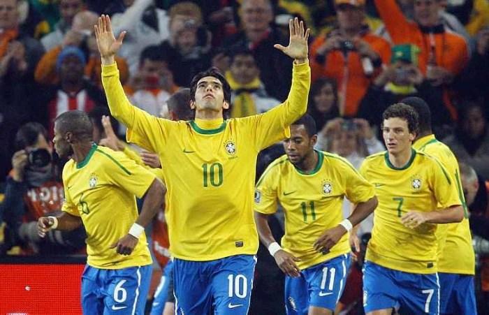 Última vez de Kaká na seleção foi durante a Copa de 2010