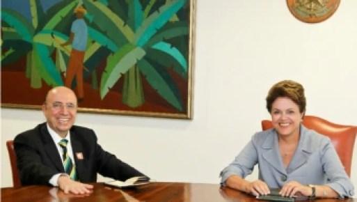 Foto de arquivo - 2011 - A então presidente Dilma Rousseff recebe o ex-presidente do BC Henrique Meirelles - Crédito: Roberto Stuckert Filho