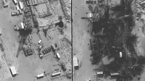 EUA bombardeiam refinarias - AFP