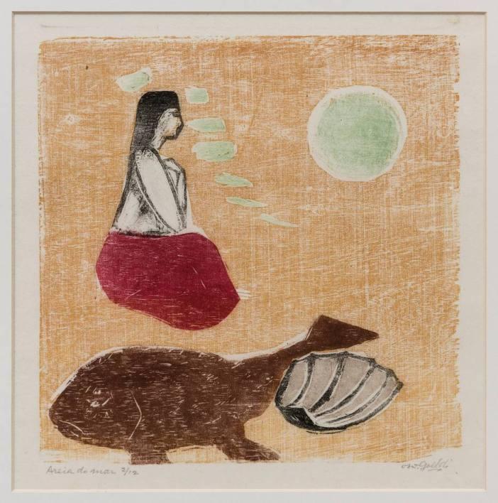 Gravura de Oswaldo Goeldi na Bergamin e Gomide: obra exemplar Foto: Semana de Arte