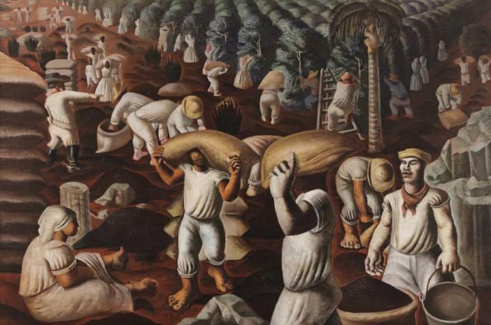 Imagem da obra 'Café', de Candido Portinari (1935) Foto: Da Coleção Museu Nacional de Belas Artes