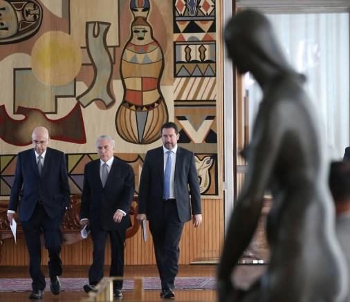 Michel Temer, Henrique Meirelles e Dyogo Oliveira