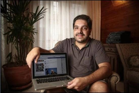 Radyr Papini critica o governo no Facebook
