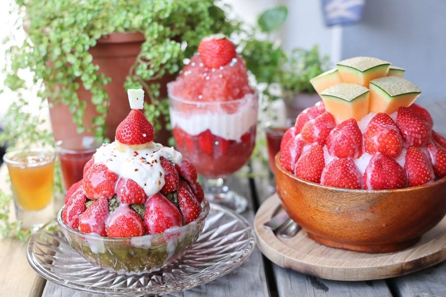 台南 草莓冰在這間店會持續進化,根本可以說是草莓冰的時裝展演台,草莓冰一年比一年更華麗 台南市中區|冰ㄉ剉冰