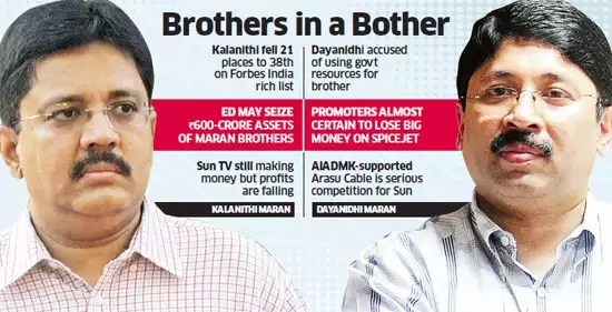 Dayanidhi and Kalanithi Maran: The fall and the future of the once ...