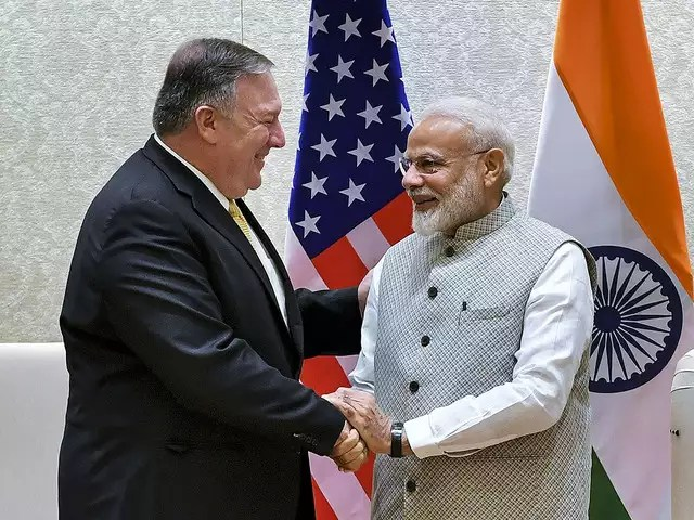 US Secretary Of State Mike Pompeo Meets With Modi