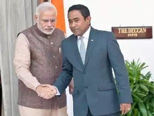 Image result for pics of yameen with modi