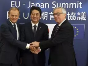 Image result for E.U., Japan enter free tariff agreement