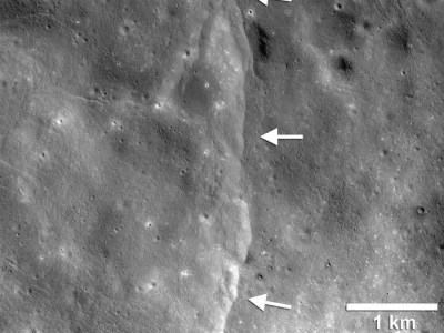 The size of moon is decreasing by shrinkage says nasa