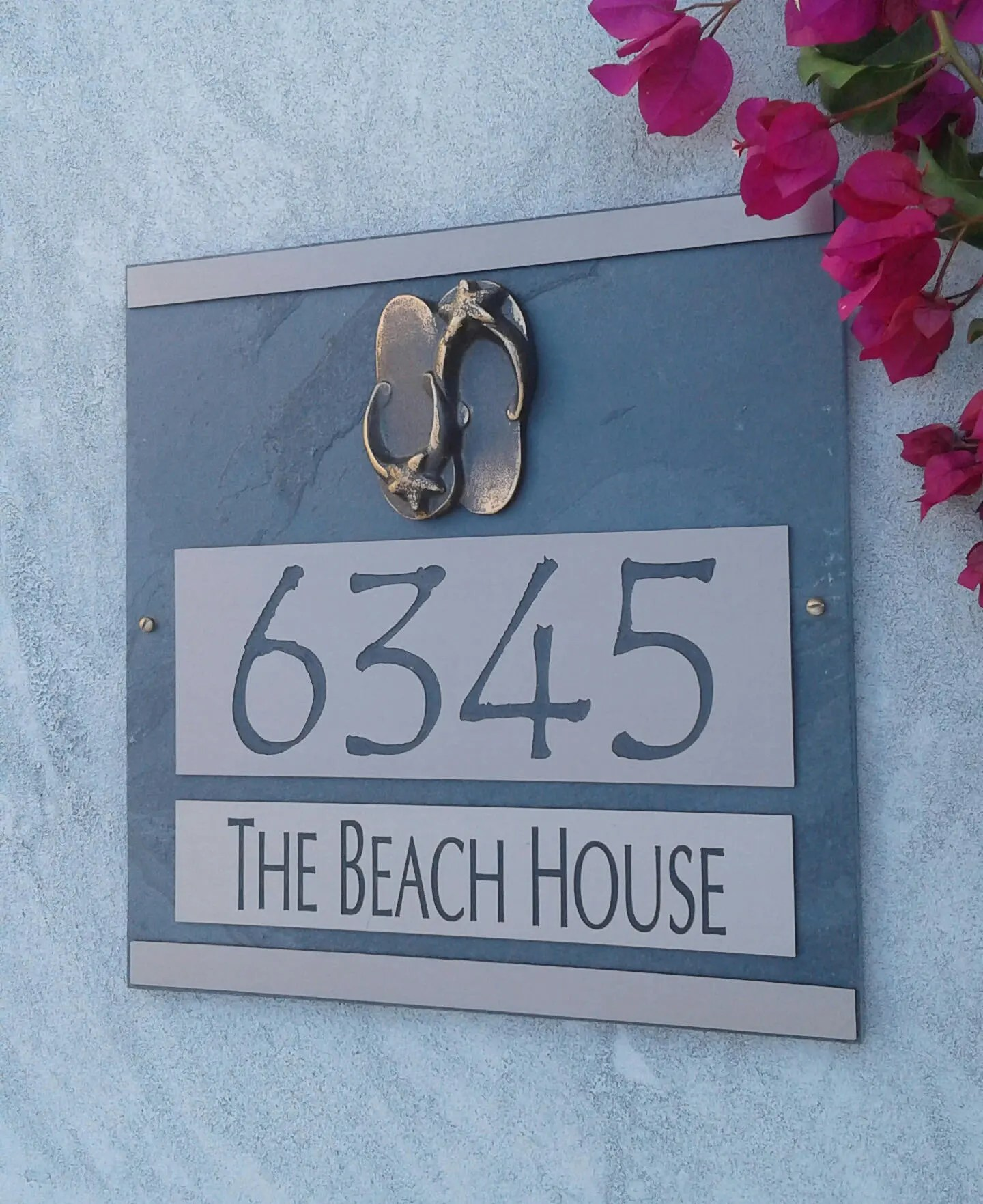Best Kitchen Gallery: Beach Sandals Address Plaque Coastal House Numbers of Coastal House Numbers on rachelxblog.com