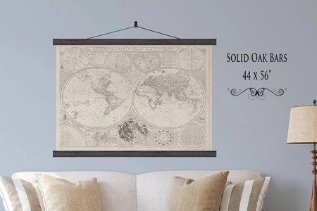 Map hanging bars free wallpaper for maps full maps new zealand map cedar picture hanging bars kcimory designs nz nz map with cedar hanging bar buy huge british isles routeplanning map laminated with hanging gumiabroncs Images