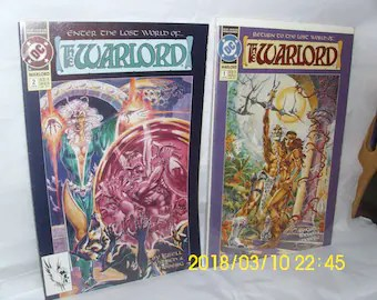 Warlord comic books   Etsy DC Comics  Return to the Lost World of The WARLORD     1  2 Jan 1992 Grell  Willich Hoberg 6 issue miniseries