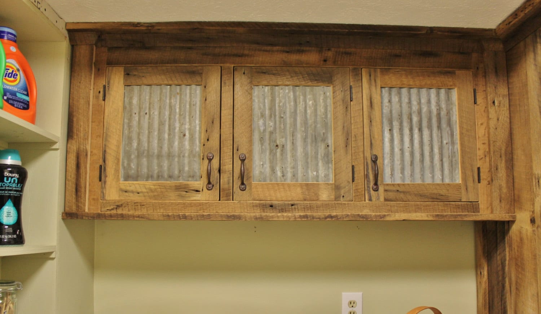 Best Kitchen Gallery: Rustic Upper Cabi Reclaimed Barn Wood W Tin Doors of Rustic Kitchen Cabinet Doors on rachelxblog.com