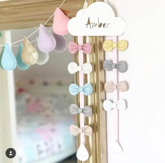 Personalised Hair Bow Hanger