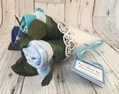 Rose Sock Bouquet - Blues...