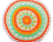 Crochet Neon Pillow, croc...