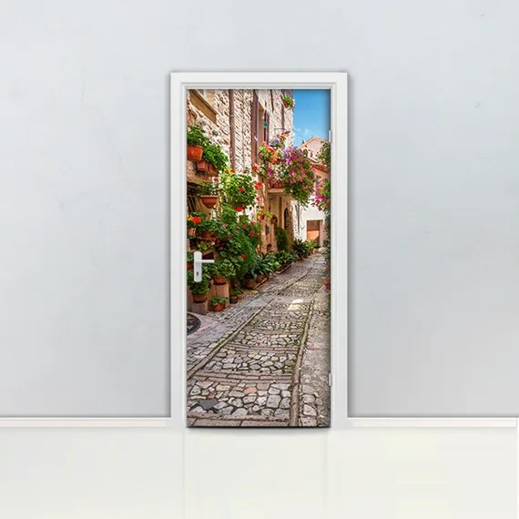 Tuscan Door Mural Decal by LoccoStickers