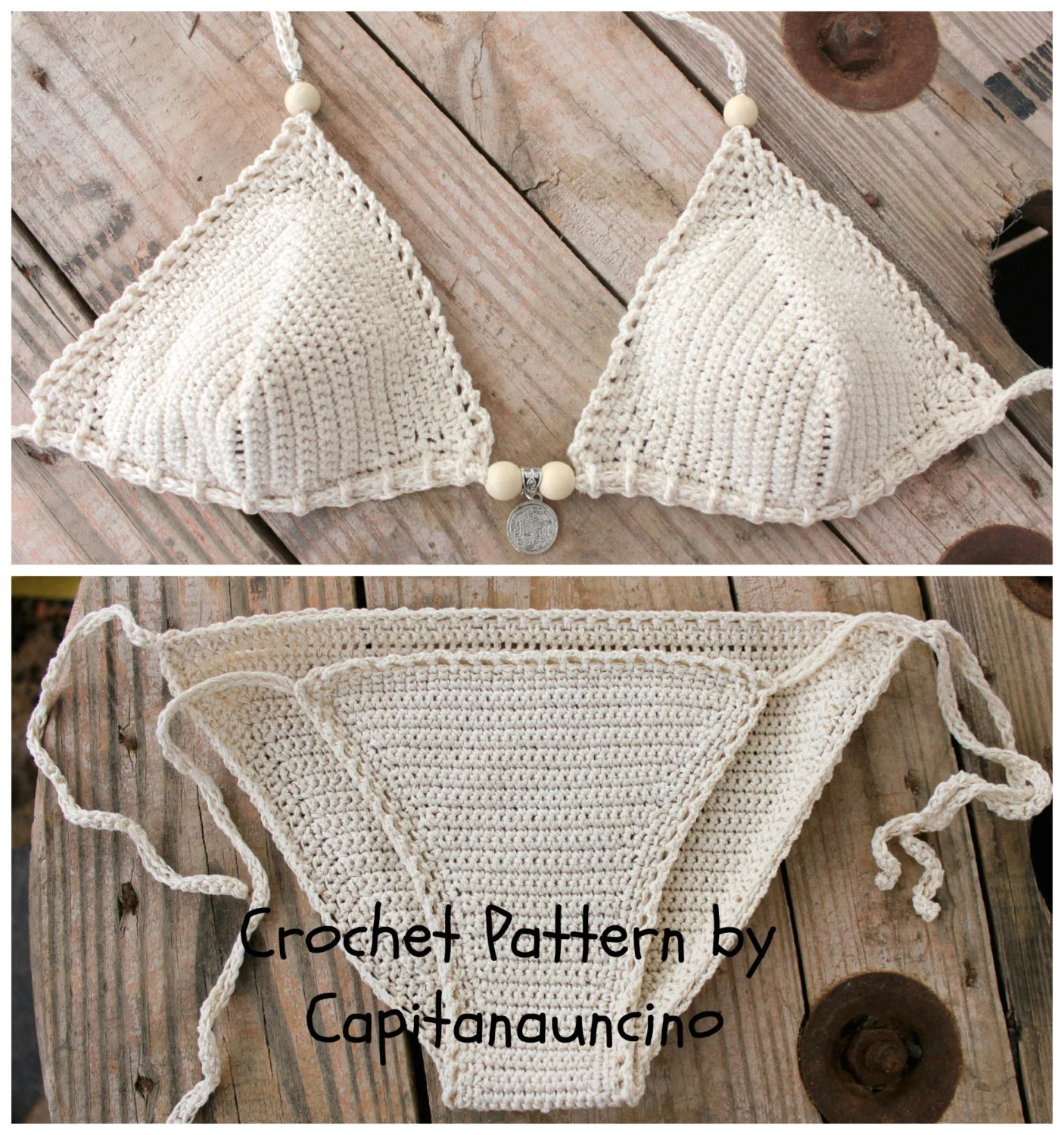 Crochet Pattern Galene Crochet Bikini Top And Bottom