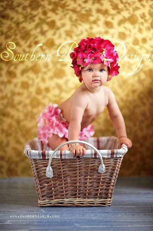 Hydrangea Flower Hat Amp Bloomers Set Newborn Infant Easter