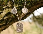 Silver Bee necklace, Hone...