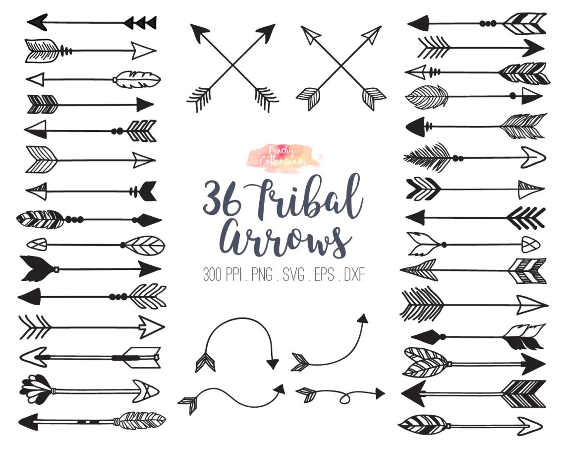 Download BUY 2 GET 1 FREE 36 tribal arrow svg dxf eps vector tribal