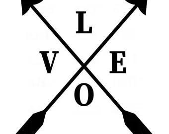 Download Love arrows | Etsy