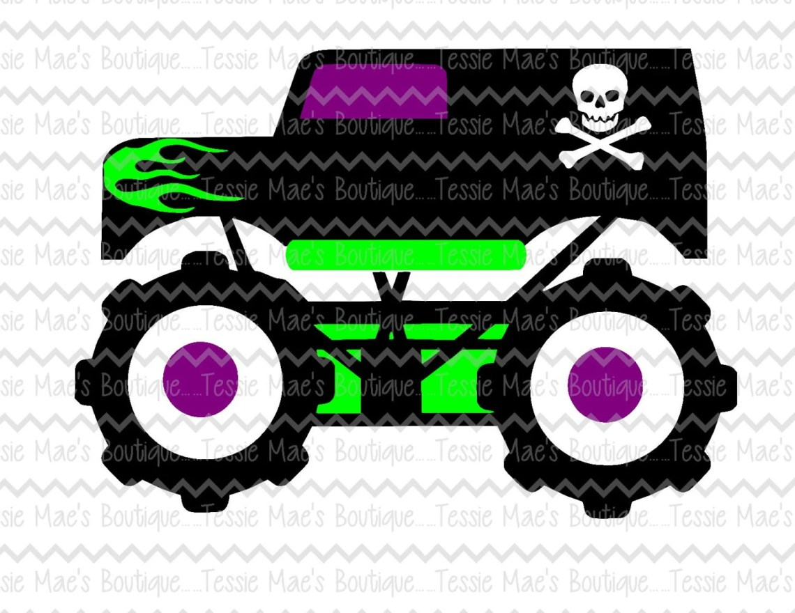 Download Monster Truck SVG DXF EPS Png Cutting File Cuttable
