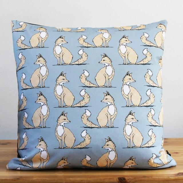 Grey Fox Cushion