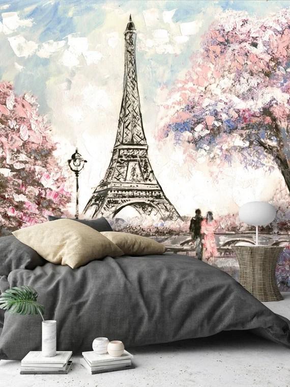 Removable Wallpaper Mural with a Paris Theme by uniQstiQ