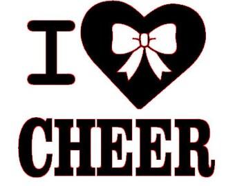 Download I love cheer svg | Etsy