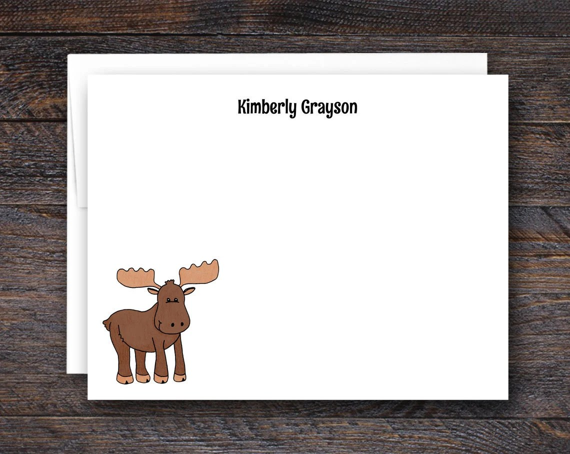 Moose Note Card Set - Per...